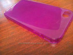 Чехол накладка силикон 2 цвета для на Apple Айфон iPhone 4