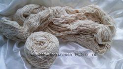 Остатки хлопковой ниточки для вязания