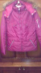 Куртка малиновая зимняя