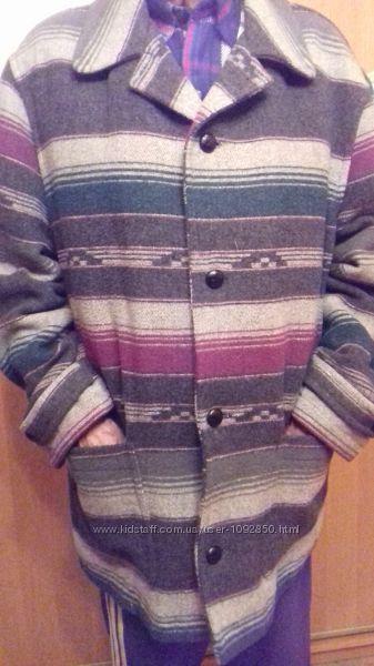 Пальто мужское с принтом