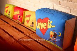 Подушка Love is. 5 цветов