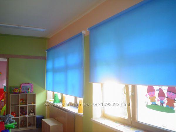 тканевые ролеты, рулонные шторы, ткань ЛЕН однотонная, найдешевша ціна