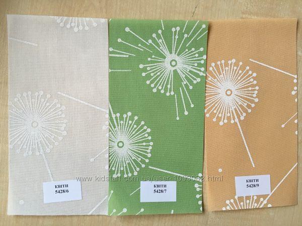 Рулонные шторы на окна ткань Цветы