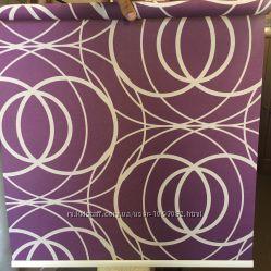 Рулонні штори Геометрія 52811 фіолетові