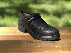 Стильные кожаные школьные туфли на девочку Minimen 31 - 38р