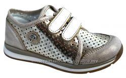 Кожаные перфорированные кроссовки турецкой фирмы Перлина Perlina 26- 30р