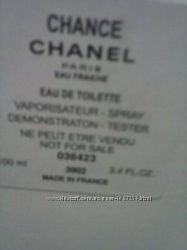 Оригинальный тестер Chanel Chance Eau Fraiche