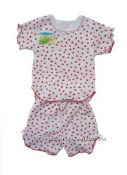 Размер 6мес. , 1, 5года, 6лет Хлопковая пижама с коротким рукавом, Украина