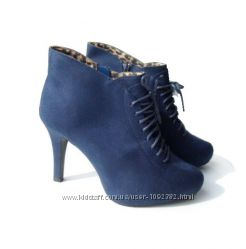 Размер 38 Демисезонные текстильные ботинке на шнуровке