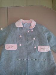 Стильное пальто для девочки 3-4 лет Next