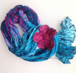 Шарф шёлк, яркие расцветки для оригинального подарка