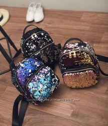 8a9a98f590ad Мини рюкзак с пайетками двусторонними. Хамелеон, 449 грн. Рюкзаки ...