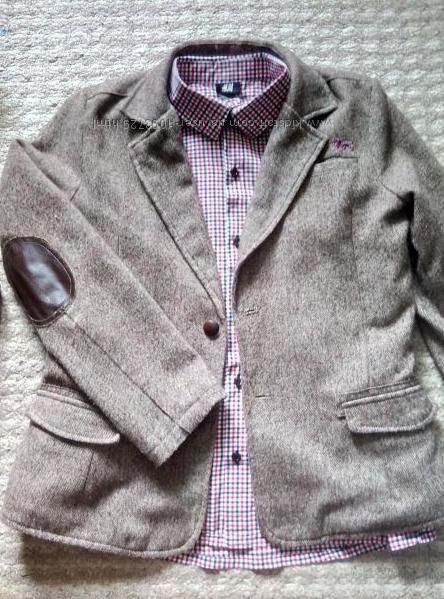 Стильный твидовый  пиджак F&F 13-14л