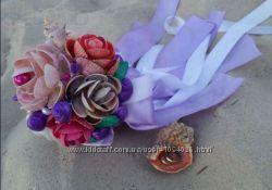 Свадебный букет с ракушек