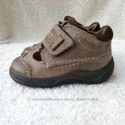 Кожаные деми ботинки кроссовки Ecco Экко, р. 19, ст. 12, 5см.