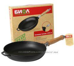 Сковорода чугунная со съемной ручкой 0122 Биол 22cм, 24см, 26см,