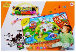 Развивающий музыкальный коврик для детей Веселая ферма YQ3006