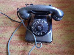 Телефон антикварный, винтажный, старинный, раритетный дисковый