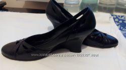 Туфли натуральная кожа 36, 37 размер, танкетка, стелька  2-24, 5 см