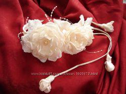 Свадебная ветка чайная роза