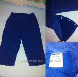 Теплые Котоновые штаны с начесом