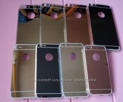 Зеркальный чехол, бампер на iphone айфон 5s , 6 , 6s, 6 Plus  , 7 , 7 Plus