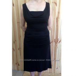 Французское черное летнее платье сарафан Claude Montana, 40-42 размер L