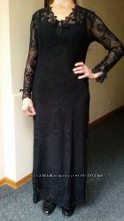 Marjolaine оригинальная новая чёрная ночнушка пеньюар домашнее платье