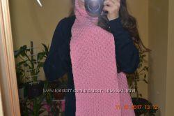 Вязанный шарф ручная работа для суровой зимы