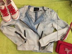 Джинсовая курточка косуха