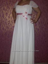 Очень красивое свадебное платье, в греческом стиле.