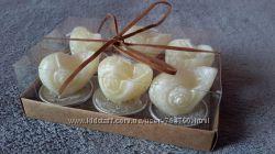 Свечи сувенирные Ракушки , 6 штук в упаковке.