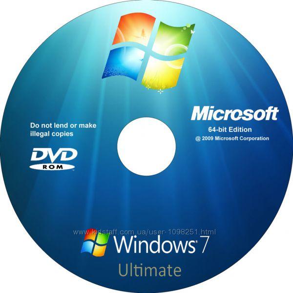 Продаю установочные диски с windows 7, 8, 10, XP