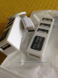 USB Type-C хаб на 4 порта  OTG