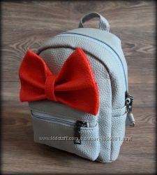 Стильный рюкзак бантик, женский, детский рюкзачок бант