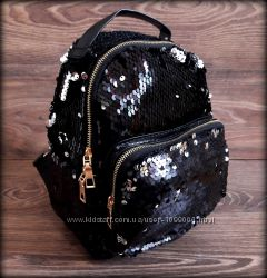 Женский рюкзак с пайетками в стиле Zara