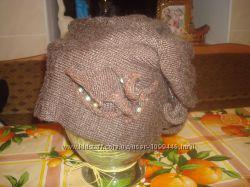 Подвійна шерстяна шапка для жінок
