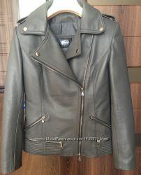 Утепленая кожаная куртка Италия