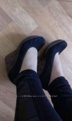 туфли натуральной замши р-37