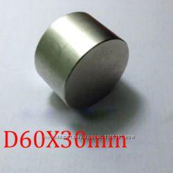 Неодимовый магнит 60 30, 60х30. Супер магнит. Сильный магнит.