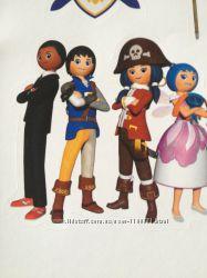 Наклейки для досуга деток с животными, цветами, пиратами и феями