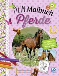 Для юных любительниц лошадей - книга-раскраска