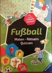 Книга для мальчиков про футбол раскраски, наклейки, ребусы, тесты на немец
