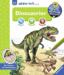 Книга-журнал на нем. яз. с заданиями, наклейками, поделками про Динозавров