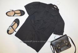 Черная рубашка с рюшами F&F