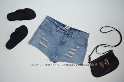Джинсовые шорты с потертостями Asos