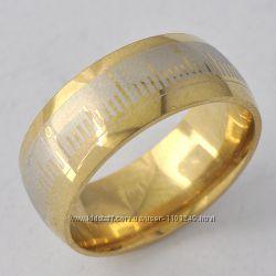 Стильное, модное колечко, покр. золото 9К Gold Filled, р. 18 A5250