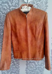 Кожаный пиджак женский