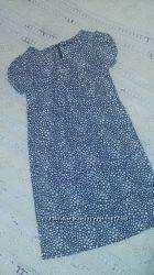 Платье бело-синее MarksSpenсer