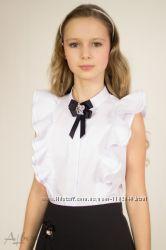 Блузка нарядная школьная на девочку ТМ Albero Размеры 122-158 Много моделей